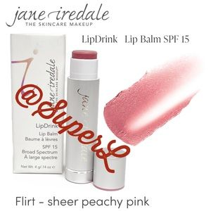 2/$25 Jane iredale Lip Balm Lipstick Flirt Pink
